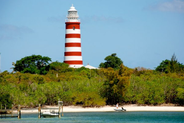 Candy Striped Hope Town Lighthouse at Elbow Cay Island